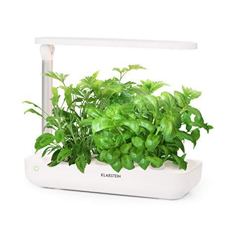KLARSTEIN GrowIt Flex - Jardín Interior Inteligente, Jardín hidropónico, hasta 9 Plantas en 25 a 40 días, Iluminación LED automática y Sistema de irrigación, Tanque de Agua de 2L, Grow It Smart!
