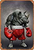 Besim Boxing Gloves Rhino Classic Vintage Metal Tin Signs for Cafe Pub Kitchen Street Home Retro Wall Decoration