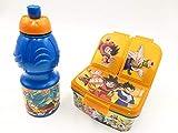 DBZ DRAGON BALL Z SON GOKU niños bebés almuerzo cena caja comida escolar y botella de refrescos