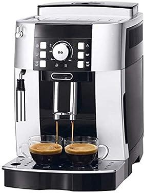 kaige Kaffeevollautomat Startseite Italienischer Dampf Milchschaum Timer-Kaffee-Maschine Milchschaum Anti-Tropf-System, Permanent Wiederverwendbare Filter, Silber WKY