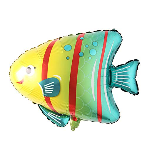 Large Fish Balloons, Foil Shark Lobster Octopus Balloon Sea World Horse Star Birthday Party Decorations Kid Inflatable Toys Wedding Decor (Bubble Fish)