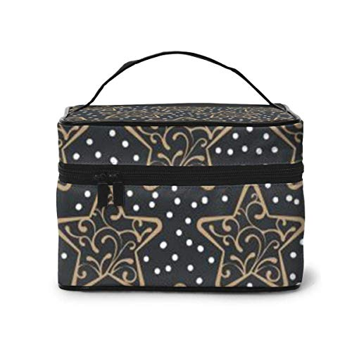 Star Snow Travel Cosmetic Case Organizer Portable Artist Storage Bag, Multifunction Case Toiletry Bags