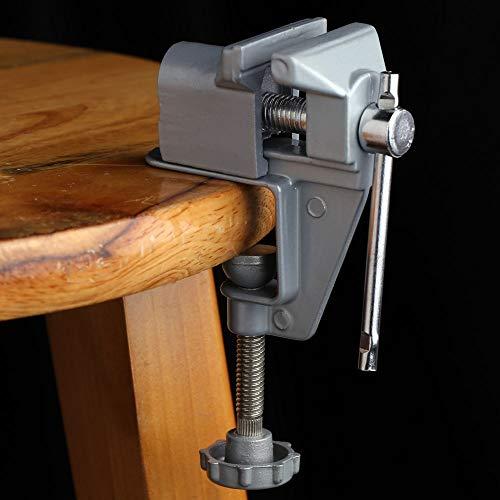 Mini abrazadera de mesa pequeña de aleación de aluminio trabajo de joyería para pasatiempos 30 mm tornillo de banco en miniatura para bricolaje abrazadera para pequeños joyeros abrazadera para taladro