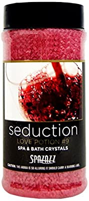 Spazazz SPZ-505 Set The Mood Crystals Container Bath Minerals, 17-Ounce, Love Potion No.9 Seduction