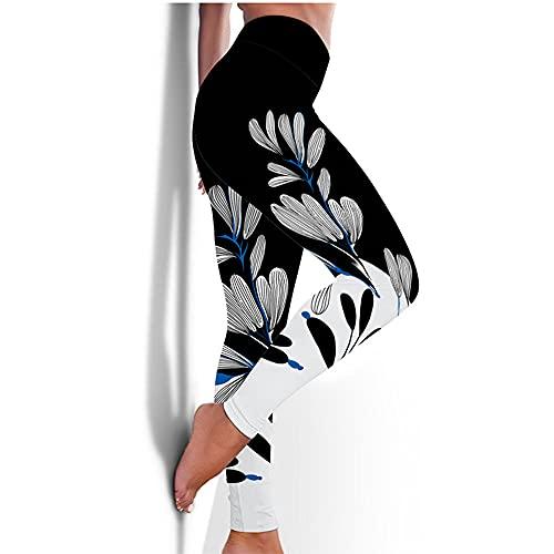 ArcherWlh Yoga Pantalones Mujer,Nuevos Pantalones de Yoga Femenina Europea y Americana Medias rápidas Caderas Deportes Aptitud Pantalones 3D impresión de yoga-Yjck-16_L