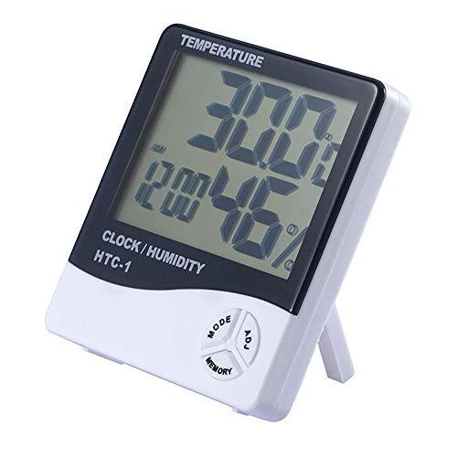 Vin-Sping Termómetro Higrómetro Digital/Higrómetro Digital Medidor Temperatura y Humedad