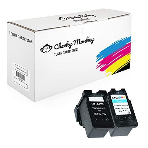 Cheeky Monkey Multipack 2X Tintenpatronen kompatibel mit Canon Pixma MG4250 MG3650 MG3550 MG2250 MG3250 MG3600 MX475 MX395 MX535 MX375 MX525 5222B005 5226B005 PG540 CL541 MIT CHIP