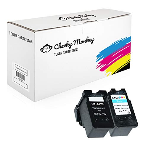 Cheeky Monkey Multipack 2X Tintenpatronen kompatibel zu Canon Pixma MG4250 MG3650 MG3550 MG2250 MG3250 MG3600 MX475 MX395 MX535 MX375 MX525 5222B005 5226B005 PG540 CL541 MIT CHIP