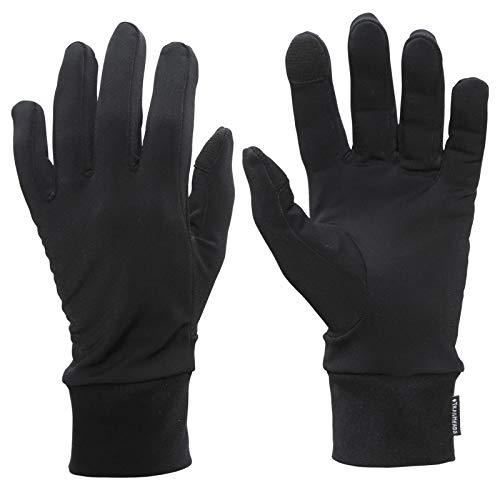 TrailHeads Running Gloves | Lightweight Gloves with Touchscreen Fingers - Black (Medium)