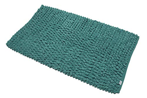 Croydex Professional Uni weiß Textil-Duschvorhang mit Hygiene 'N' Clean, Textil, Aqua, 1 x 50 x 80 cm