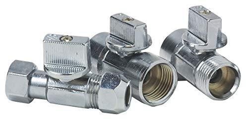 Robinet d'arrêt laiton Neptune - Diamètre Bicone 10 mm - Filetage 12 x 17 mm
