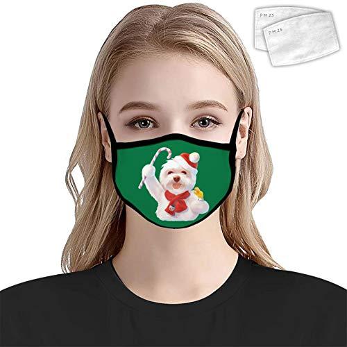 835 Isr-ael Ade-sa-NYA antipolvere copertura copertura decorazione lavabile riutilizzabile involucro lato donne uomini 2PCS filtri Cane di Natale Taglia unica