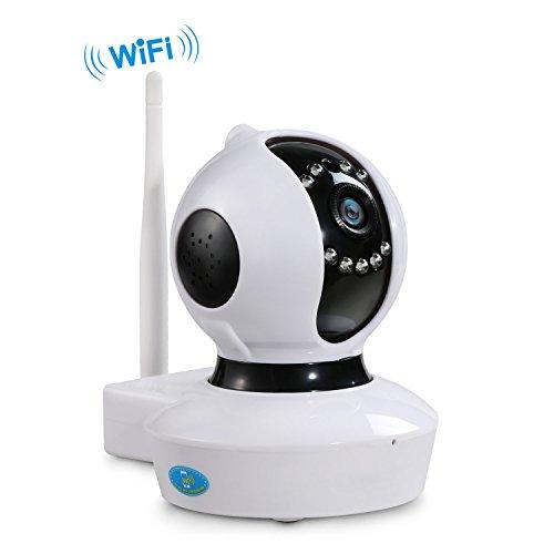 NEXGADGET IP Cámara de Seguridad Inalámbrica HD 720 P WiFi Interior Vigilancia del Monitor con Detección de Movimiento Micrófono Altavoz Visión Nocturna (NGE)