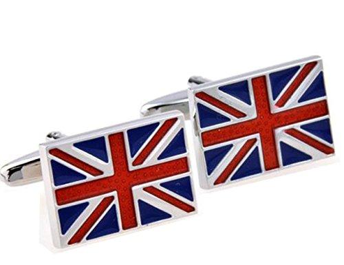 Gudeke Britische Flagge Manschettenknöpfe Mens Französisch Hemd-Manschettenknöpfe