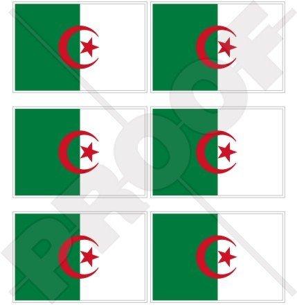 Algérie Drapeau Algerie, Alger 40 mm (40,6 cm) Mobile, Téléphone portable, mini en vinyle autocollants, Stickers x6