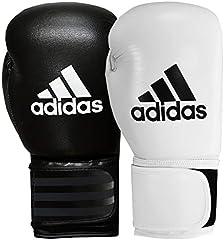 adidas adibc01–Guantes de Boxeo para Hombre, Hombre, ADIBC01, Blanco y Negro