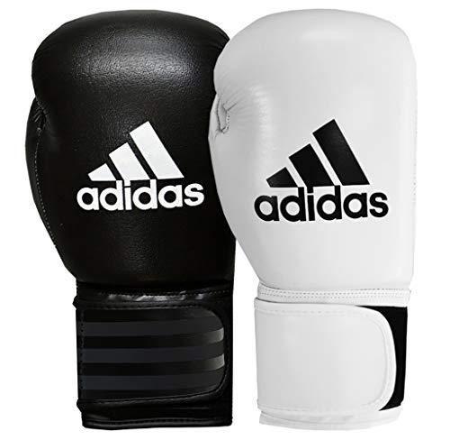 adidas Guantoni da boxe PERFORMER, Nero (black-white), 12 once