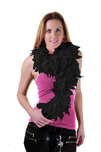 Boa di piume, perfetto per burlesque o addio al nubilato, 150 cm, 115 g Nero 150 cm