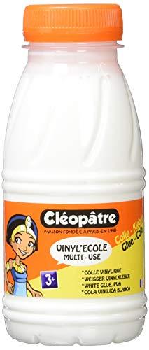 Cléopâtre VI250 Vinyl'Ecole Flacon de colle vinylique 250 g Blanc