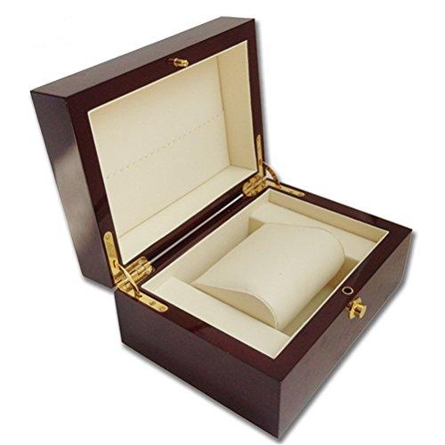 Negocio Caja de embalaje de regalo caja de reloj de madera con almohada paquete cajas de caso los relojes de pulsera joyas almacenamiento pantalla de regalo