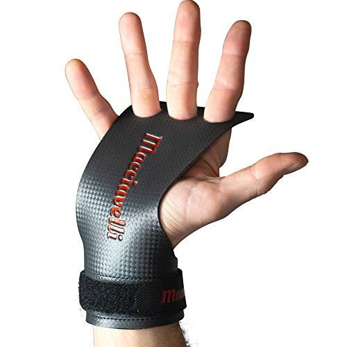 MACCIAVELLI Carbon Trainingshandschuhe Fitness Handschuhe (Carbon   Rot, M)