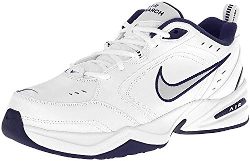 Nike Air Monarch IV Mens Running Trainers 415445 Sneakers Shoes (UK 8.5 US 9.5 EU 43, White Metallic Silver 102)