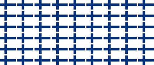 Mini Aufkleber Set - Pack glatt - 20x12mm - Sticker - Fahne - Finnland - Flagge - Banner - Standarte fürs Auto, Büro, zu Hause & die Schule - 54 Stück