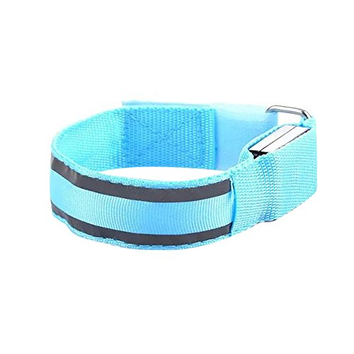 New!DEESEE(TM) Reflective LED Light Arm Armband Strap Safety Belt for Night Running Cycling (C)