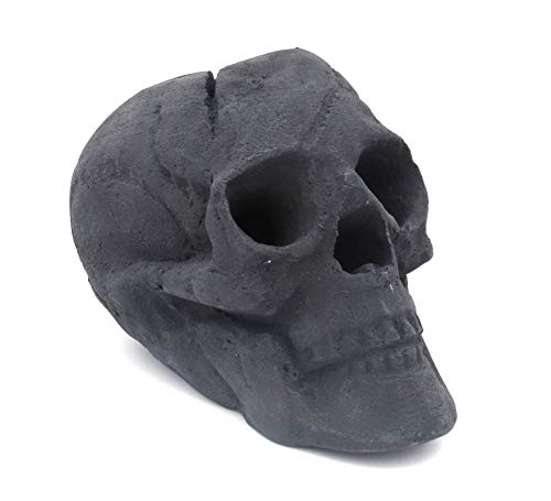 OSKER Ceramic Fireproof Faux Human Skull Logs for Wood or Gas Fire Pit, Fireplace, Campfire, BBQ, or Halloween Decoration -...