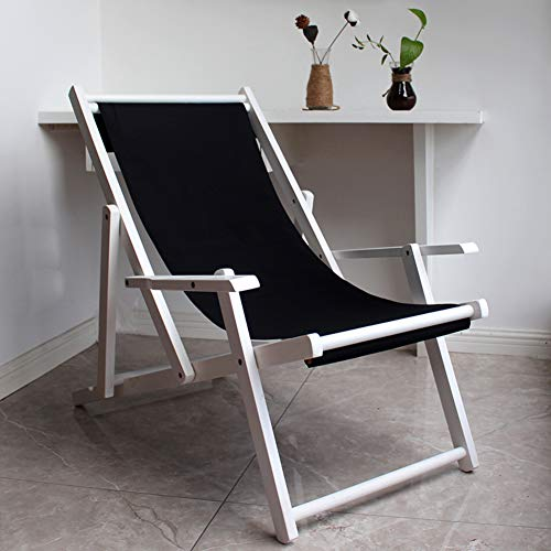 Outdoor Beach Chair,Wood Folding Lounge Chair with Armrest,Stripe Sunbathing Recliner for Children Pool Garden Patio R