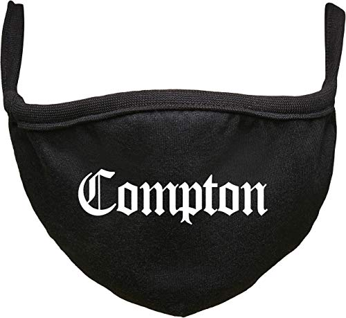 Urban Classics Unisex-Adult Compton Face Mask Alltagsmasken, Black, one size