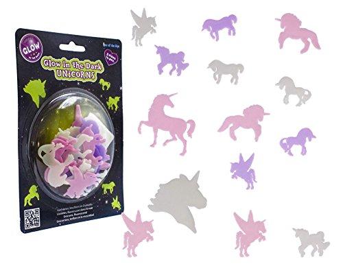 Gadget Giant Flying Galloping fluorescente Glow in the Dark Fairy Tale Unicorn Wall Decal Decor adesivo cameretta per bambini (confezione da 14)