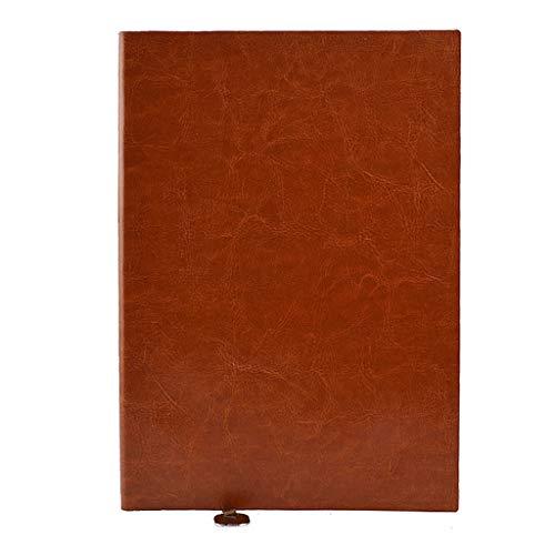 Cuadernos de taquigrafía El Bloc de Notas del Cuaderno A5 se Puede Personalizar Logotipo Suministros de Oficina de Negocios, Cuero Suave Cuaderno de Tapa Dura (Color : Brass, tamaño : S)
