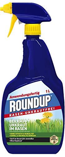 Roundup Rasen-Unkrautfrei AF, Sprühflasche, Spezial- Unkrautvernichter zur Bekämpfung von Unkräutern im Rasen mit sehr guter Rasenverträglichkeit, 1Ltr.