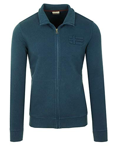 Napapijri Bechet Herren Men Sweatshirt Sweatjacke Pullover Blau Blue (M)