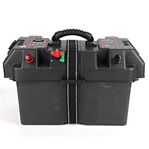 Trolling Motor Power Center, Kunststoff Motor Power Center Station für kleine Bootsspiegelanwendungen zum Anschluss von Kabeln für Batterien der Größe 24