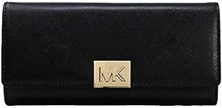 Michael Kors Mindy Carryall Leather Black Wallet