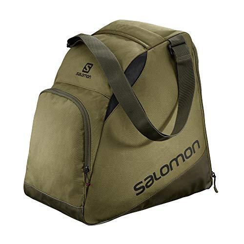 Sac à chaussures de ski Salomon, unisexe, EXTEND GEARBAG, Convient pour 1 paire de chaussures, Vert...