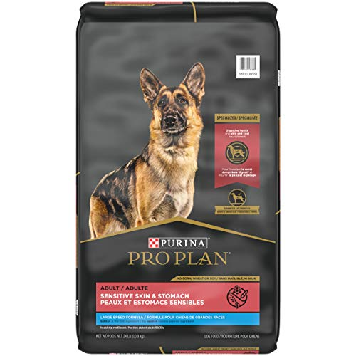 Purina Pro Plan with Probiotics, Sensitive Stomach Large Breed Dry Dog Food, Specialized Sensitive Skin & Stomach - 24 lb. Bag