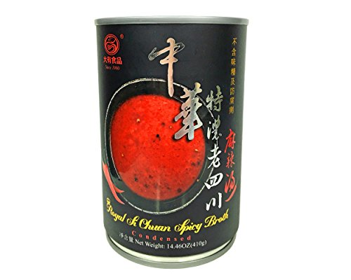 特濃四川麻辣湯 410g 水で割るだけ、簡単、本格「火鍋」スープ 専門店の味 添加物一切不使用 おいしくて身体にやさしい 麻婆豆腐など四川料理に 山椒の効いたしびれるおいしさ