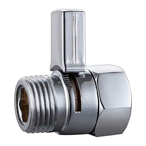 BARROCK Shower Head Shut Off Valve Brass Body with Push Button Handle, Shower Toilet Shut-off Valve Water Saver G1/2 Inch IPS Polished Chrome