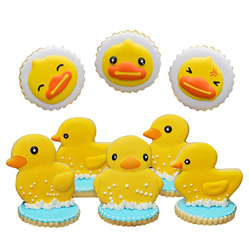 Duck Cookie Biscuit Fondant Molds - Set of 10-4Pcs Cookie Cutters and 6Pcs Matching Cookie Stencils