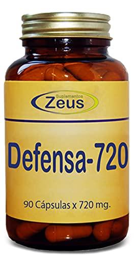 DEFENSA-720 | Contribuye al normal funcionamiento del sistema inmunitario | Complemento Alimenticio a base de Calostro bovino y Hongos | 90 Cápsulas Vegetales