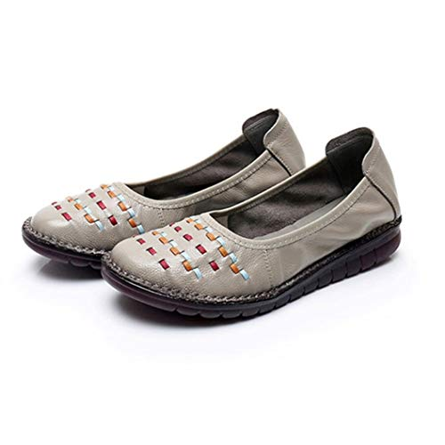 Femmes Ballerines Bout Rond Slip on Mocassins Respirants Confort Marche Plate-Forme Mocassins Casual Doux Fond Wedge Mère Chaussures