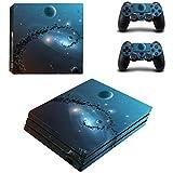 YWZQ Etiqueta engomada de la calcomanía del patrón de Estrellas Fresco para PS4 Pro Console + 2 Controller Skin Etiqueta de la Piel para Playstation 4 Pro Accesorios de Juegos,2886