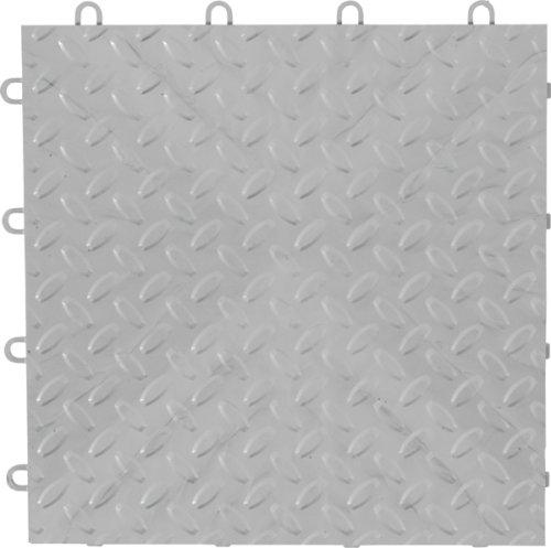 "Gladiator GAFT48TTPS Silver Floor Tile 12"" x 12"", 48-Pack"