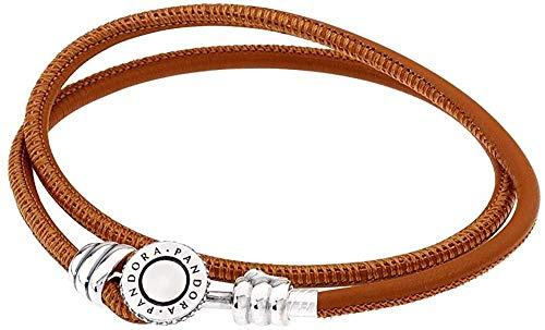 VVHN Pulsera de Cuerda de Plata para Mujer