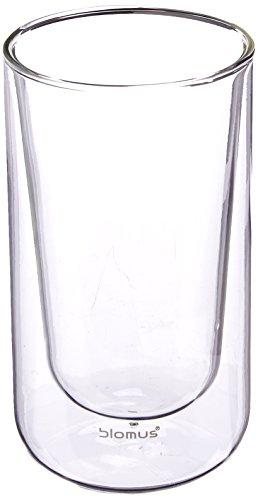 Blomus 63655 Set 2 Thermo-Latte Macchiato-Gläser Nero