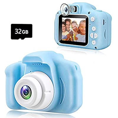 KAWELON Kids Camera, Toys for 3-8 Year Old Girls Boys, Best Birthday Gifts for 4 5 6 7 8 Year Old Girls Boys, Girl Toys Toddler Camera, Dual Lens Digital Camera with 32GB SD Card from KAWELON