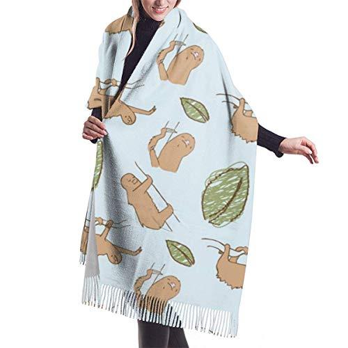 JONINOT Damenmode Langer Schal Ostereier Muster Kaschmirschal Winter Warmer großer Schal Geschenkbox